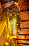 Statue of Reclining Buddha in Wat Pho in Bangkok, Thailand Royalty Free Stock Photos