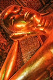 Statue of reclining budha Royalty Free Stock Photography