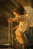 Statue religieuse à Rome, Italie. photographie stock libre de droits