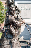 Statue in Rembrandtplein (Rembrandt Square), Amsterdam, Netherlands Royalty Free Stock Photography