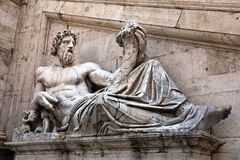 Statue representing the Tiber River Royalty Free Stock Photo