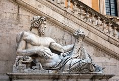 Statue representing the Tiber River Stock Image