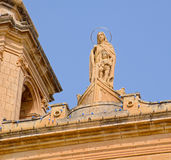 Statue representing the Virgin Mary Royalty Free Stock Photo