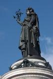 Statue of Republic in Paris Stock Image