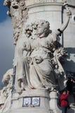 Statue of Republic in Paris. Stock Photo