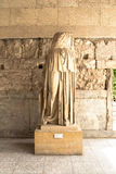Statue in Restored Stoa of Attalos, Athens, Greece Royalty Free Stock Photo