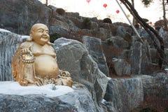 Statue riante de Bouddha Image stock