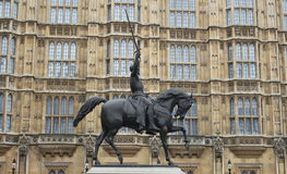 Statue Richard I, London Großbritannien Lizenzfreies Stockfoto