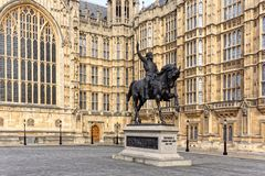 Statue of Richard the Lionheart Stock Photo