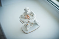 Statue with rings. Royalty Free Stock Photography