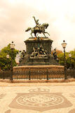 Statue in Rio de Janeiro. The Estatua equestre de D. Pedro I in the Praca Tiradentes in the center of Rio de Janeiro, Brazil, South america Stock Images