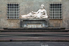 Statue of the river Dora, Torino, Italy Stock Photography