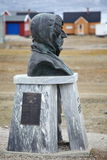 Statue of Roald Amundsen in Ny Alesund Royalty Free Stock Images