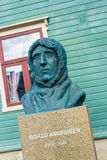 Statue of Roalf Amundsen in Tromso, Norway. Royalty Free Stock Photography