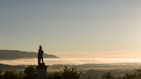 Statue of Robert the Bruce at dawn Stock Image