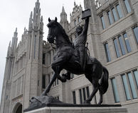 Statue of Robert the Bruce outside Marischal College, Aberdeen, Royalty Free Stock Image