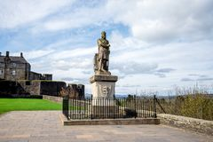Statue of Robert the Bruce outside of Striling Castle Royalty Free Stock Image