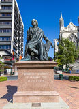 Statue of Robert Burns in Dunedin NZ Royalty Free Stock Photos
