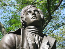 Statue of Scotish poet Robert Burns Royalty Free Stock Images