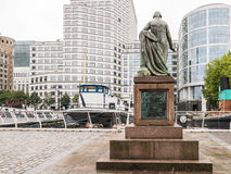 Statue of Robert Milligan facing West India Quay, Docklands, Lon Royalty Free Stock Photography