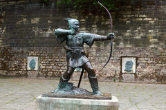 Statue of Robin Hood. East Midlands Royalty Free Stock Photos