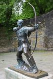 Statue Of Robin Hood. At Nottingham Castle, Nottingham, GB Stock Photos
