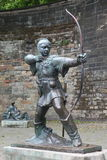 Statue Of Robin Hood at Nottingham Castle, Nottingham Royalty Free Stock Image