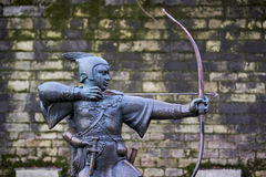 Statue of Robin Hood Royalty Free Stock Image