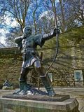 Robin Hood. Statue of Robin Hood, Prince of theives Royalty Free Stock Images