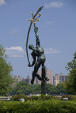 Statue of Rocket Thrower in Flushing Meadows Corona Park, Queens Royalty Free Stock Photos