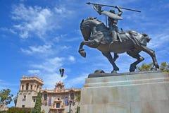 Statue of Rodrigo Diaz de Vivar Stock Photography