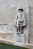 Statue of Roger Williams in `Reformation Wall` Royalty Free Stock Images