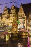 Statue of Roland on Bremen Market Square Stock Photo