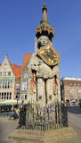 Statue of Roland on the Market Square, Bremen, Germany Royalty Free Stock Photo