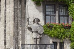 Statue of Roland in Quedlinburg, Germany Stock Photos