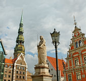 The statue of Roland  in Riga, Latvia. Royalty Free Stock Image