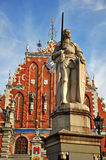 Statue of Roland in Riga Stock Image