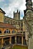 Statue at Roman Baths and Cathedral royalty free stock images