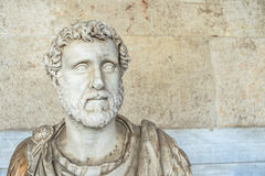 Statue of Roman emperor Antoninus Pius Stock Photography