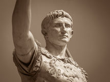 Statue of Roman Emperor Augustus. On the via dei Fori Imperiali Stock Photography