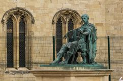 Statue of Roman Emperor Constantine the Great. At York Minster Royalty Free Stock Photo