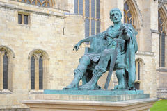Statue of Roman Emperor Constantine, York, England. Statue of the Roman Emperor Constantine the Great near  Minster in York, Yorkshire, United Kingdom Royalty Free Stock Photos