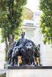Statue of Roman Emperor Marcus Antonius beside Secession building in Vienna in Austria Royalty Free Stock Photo