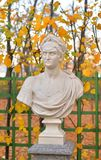 Statue of roman emperor Nero in Summer Garden. Statue of Nero Claudius Caesar Augustus Germanicus in Summer Garden at evening, St.Petersburg, Russia royalty free stock photography