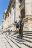 The Statue Of Roman Emperor Trajan holding the Capitoline Wolf Royalty Free Stock Photos