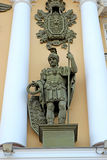 Statue of a Roman legionary in St. Petersburg Stock Image