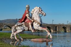 Statue of Roman soldier Royalty Free Stock Images