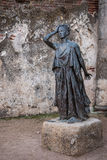 Statue in the Roman theater of Merida Stock Image