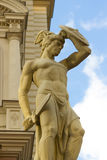 Statue of a roman warrior. With a sword Royalty Free Stock Photo