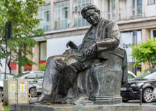 Statue of Romanian composer George Enescu in Bucharest Royalty Free Stock Photos
